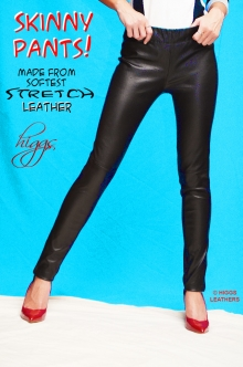 Higgs Leathers HALF PRICE SAVE £200!  Skinny (ladies Skinny Leather pants)
