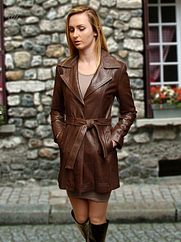 Higgs Leathers ONE ONLY! Athena (ladies 3/4 length fitted leather coat)