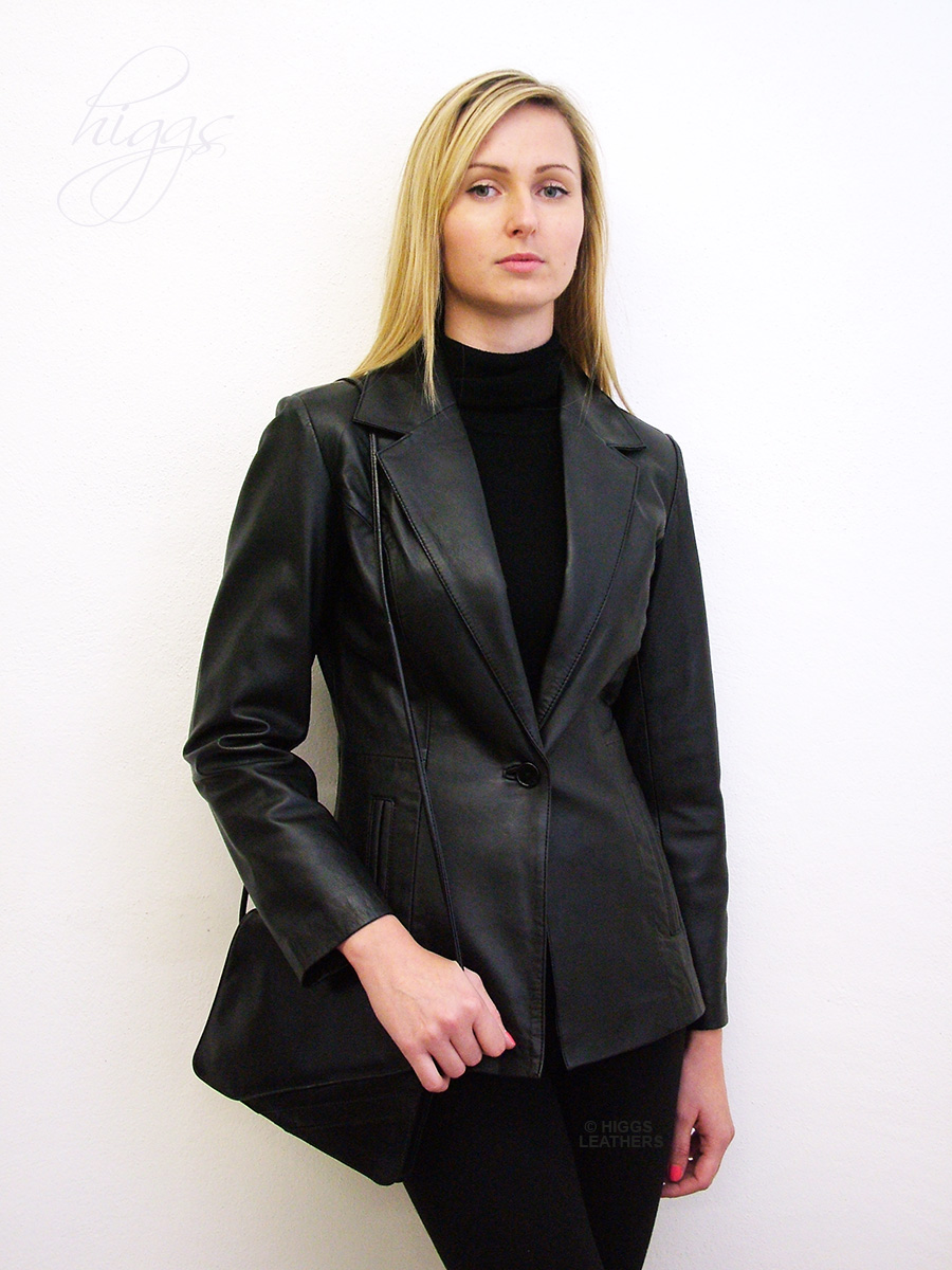 Higgs Leathers Barbi (ladies fitted Black Leather Blazers) Slimline elegance!