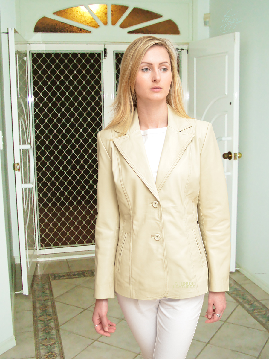Higgs Leathers Betsina (ladies long leather Blazer Jackets) Beautiful Leather Blazers!
