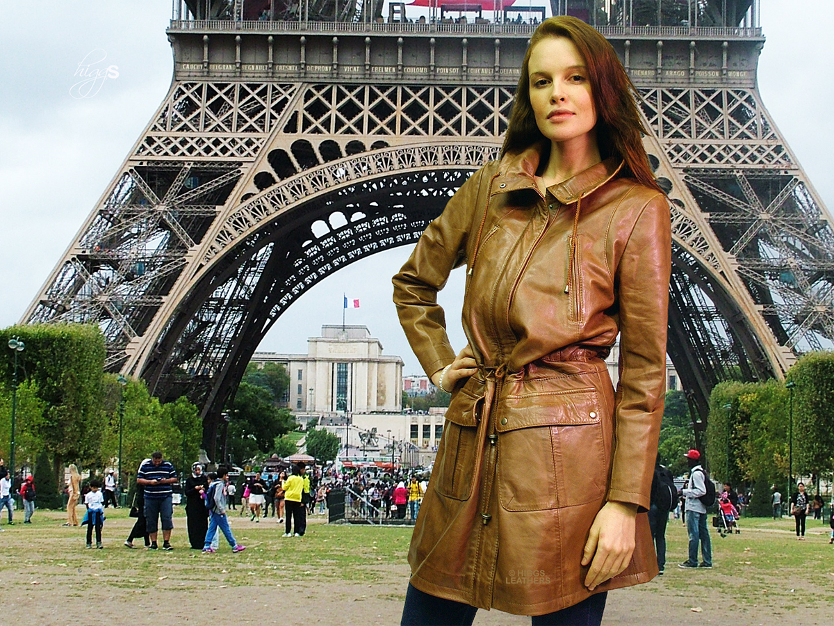 Higgs Leathers Paloma (ladies Nappa Leather Parka coats)  Memories of Paris.............
