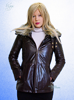 Higgs Leathers SOLD! Roberta (ladies Brown leather long jackets) SOLD!