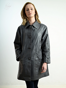 Higgs Leathers LAST FEW!  Rosemary (ladies swingback Grey Leather jackets)