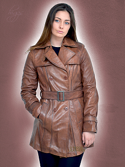 Higgs Leathers Toulouse Latrench (ladies Black Leather Trench coats)