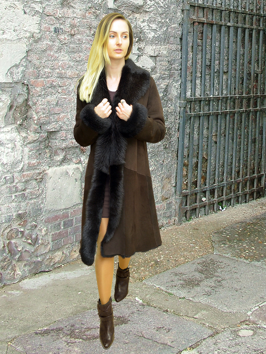 Higgs Leathers {}  Anastasia (Toscana trimmed Shearling coats)
