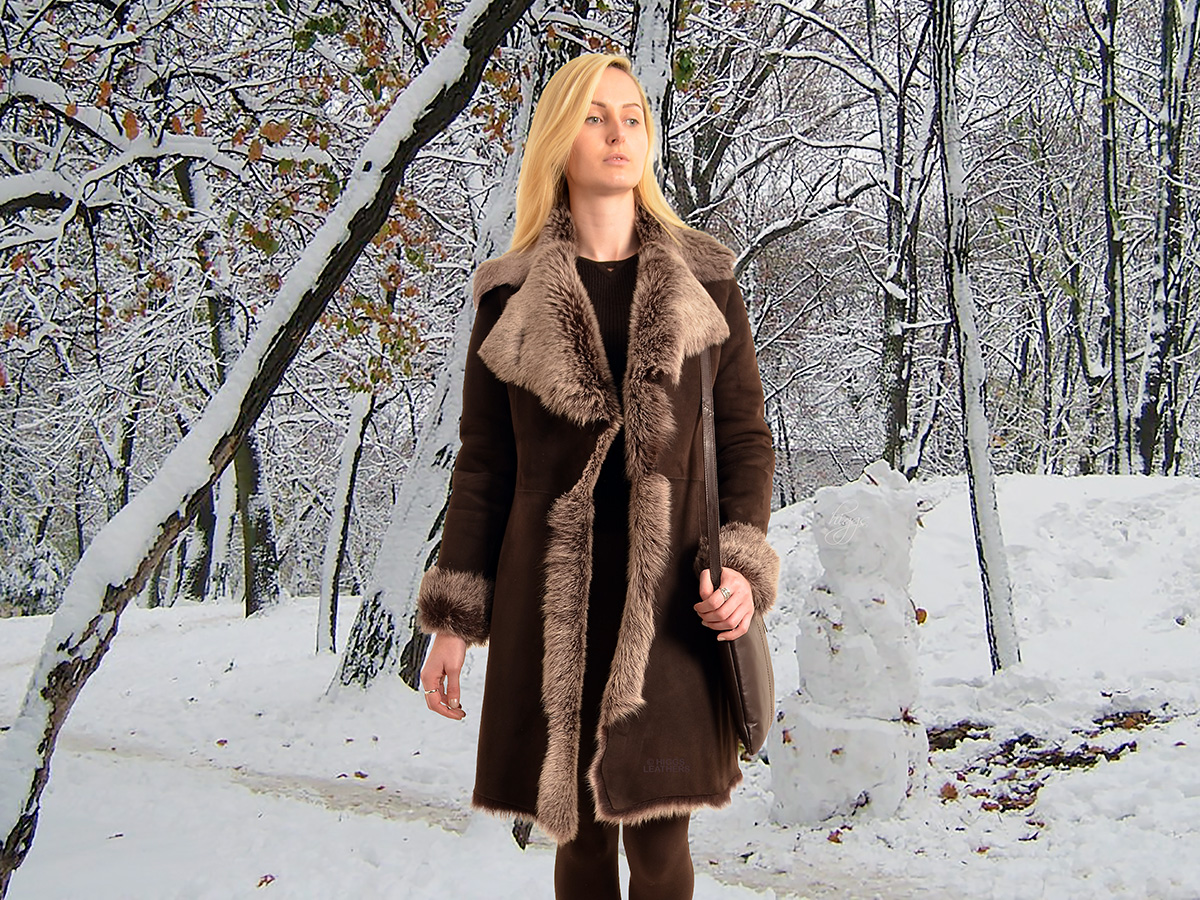 Higgs Leathers {ONE ONLY SAVE £400!}  Angela (women's fitted Toscana Shearling coats)
