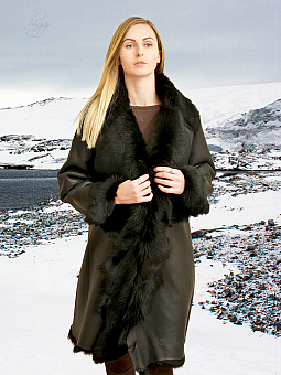 Higgs Leathers SOLD!  Angela (ladies fitted Toscana Shearling coat)