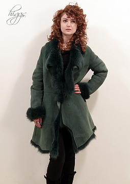 Higgs Leathers SOLD!  Angelica (ladies Misty Green Toscana coat)