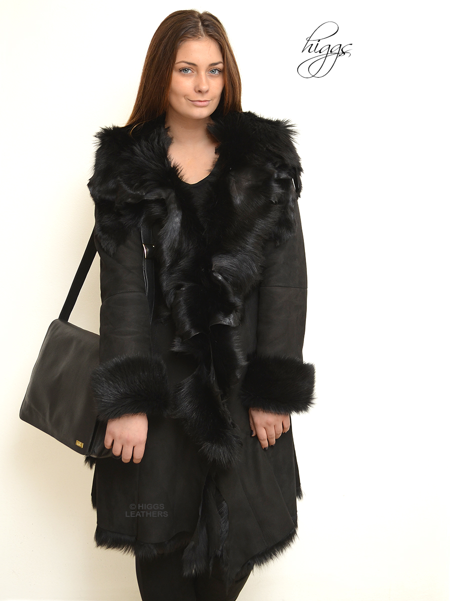Higgs Leathers Anita (ladies Designer style Toscana coats) Fabulous Designer Shearling Dreamcoats!