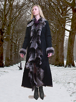 Higgs Leathers NEW!  Anitola (Designer style Toscana Shearling coat)