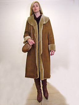 Higgs Leathers Anna (mid length Merino Shearling coat)