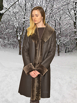 Higgs Leathers SOLD!  Anna (ladies Nappa Merino Shearling coat)