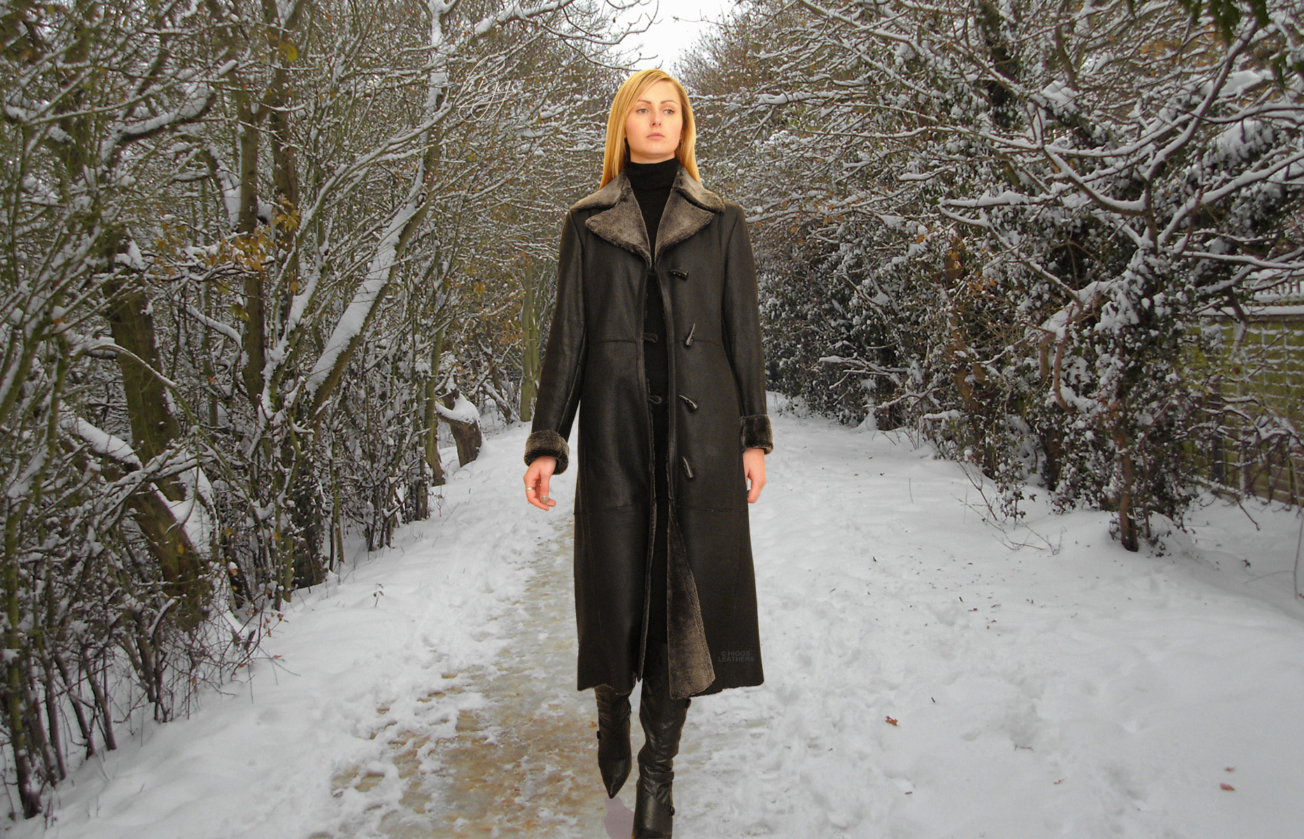 Higgs Leathers {LAST ONE - SAVE £300!}  Annalee (ladies fitted Nappa Shearling coats)