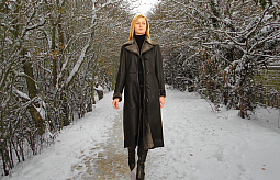 Higgs Leathers LAST ONE - SAVE £300!  Annalee (ladies fitted Nappa Shearling coats)