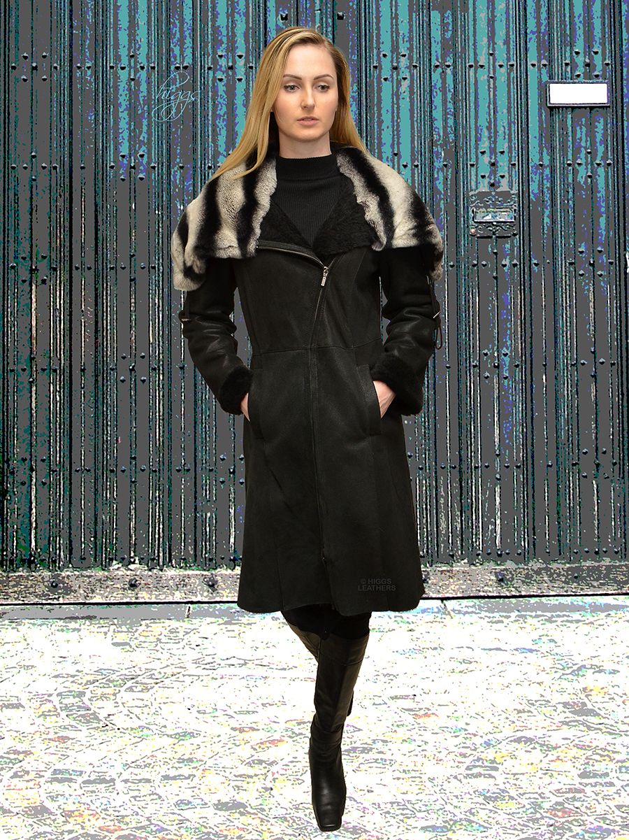 Higgs Leathers {TWO ONLY SAVE £700!}  Callie (ladies Designer style Shearling coat)