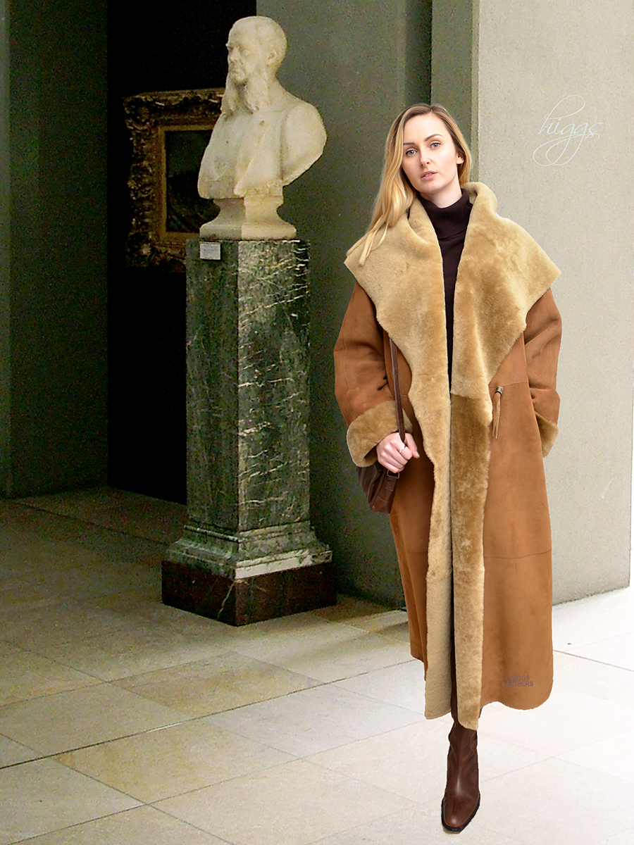 Higgs Leathers {ONE ONLY - SOLD!}  Caroline (ladies Merino Shearling long coat)
