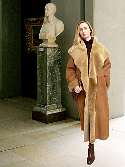 Higgs Leathers ONE ONLY - SOLD!  Caroline (ladies Merino Shearling long coat)