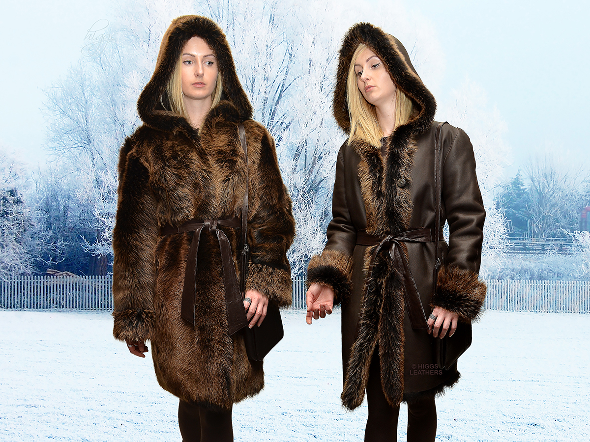 Higgs Leathers {ONE ONLY SAVE £500!}  Chiaro (Reversible hooded Shearling coat)