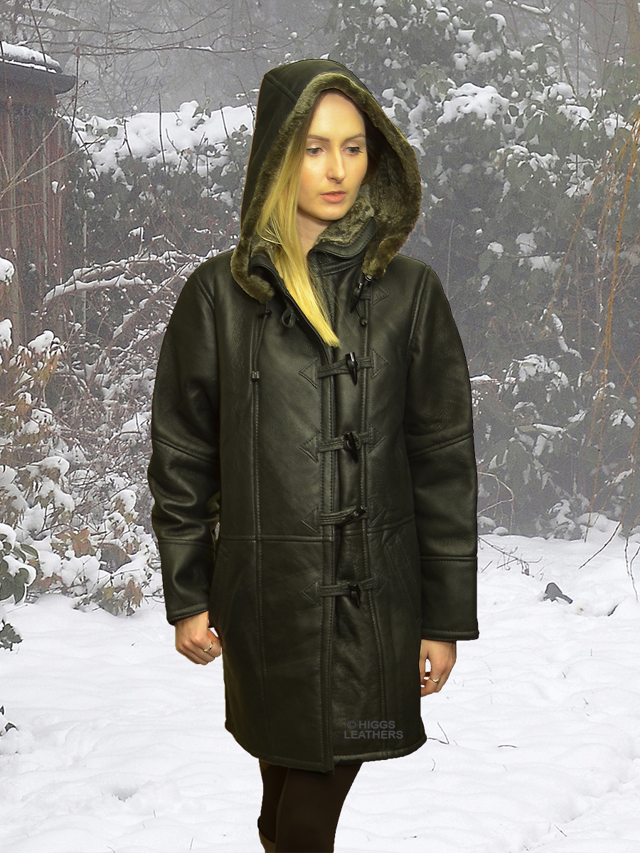 Higgs Leathers {LAST TWO ONLY!}  Davina (womens hooded Shearling coat)