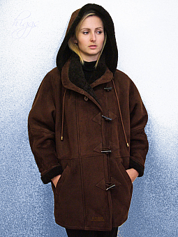 Higgs Leathers NEW STOCK!  Debbie (ladies Brown Merino duffle coats)