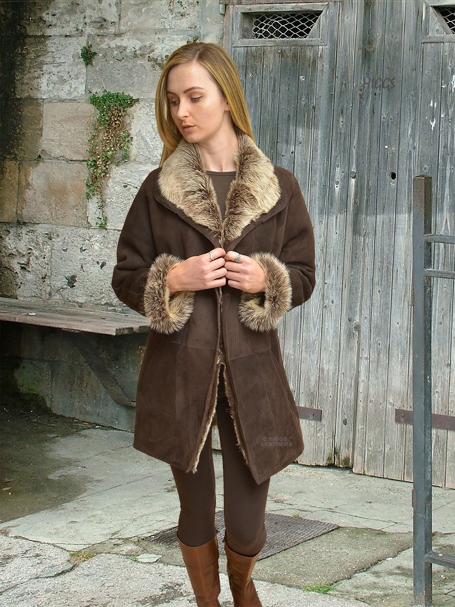 Higgs Leathers {}  Debita (ladies Toscana Shearling Car coat)
