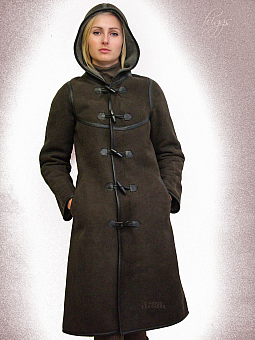 Higgs Leathers ALL SOLD!SAVE £450!  Dukina (ladies Brown Sheepskin duffle coats)