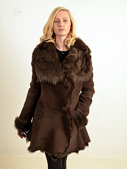 Higgs Leathers ALL SOLD!  Gabrielle (ladies Brown Toscana 3/4 coat) ALL SOLD!