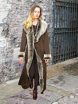 Higgs Leathers {ONE ONLY SAVE £500!}  Katyann (Toscana trimmed Merino Shearling coat)