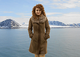 Higgs Leathers SAVE £200!  Louisette (ladies Truffle Shearling coats)