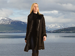 Higgs Leathers Natasha (ladies Black Toscana Shearling coat)