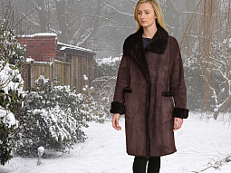 Higgs Leathers ONE ONLY SAVE £400!  Siobhan (ladies easy fitting Shearling coat)
