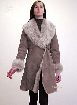 Higgs Leathers SAVE £200!  Tatianya (Toscana trimmed ladies Shearling coats)