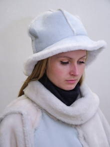 Higgs Leathers ALL SOLD!  Francesca (ladies soft brim Sheepskin hats)