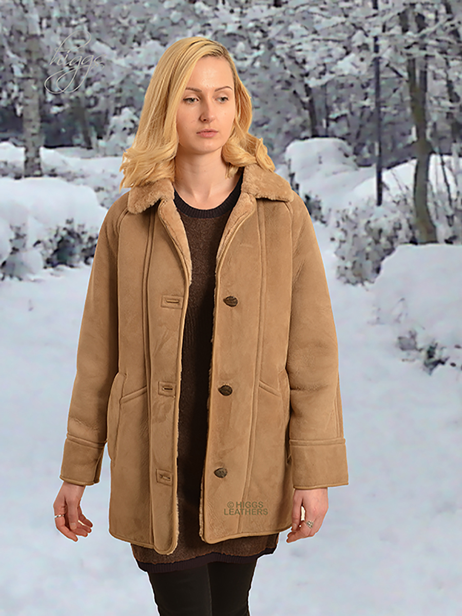 Higgs Leathers {ONE ONLY SAVE £120!}  Andrea (ladies classic Shearling coats) ONE ONLY -  SIZE 44' BUST