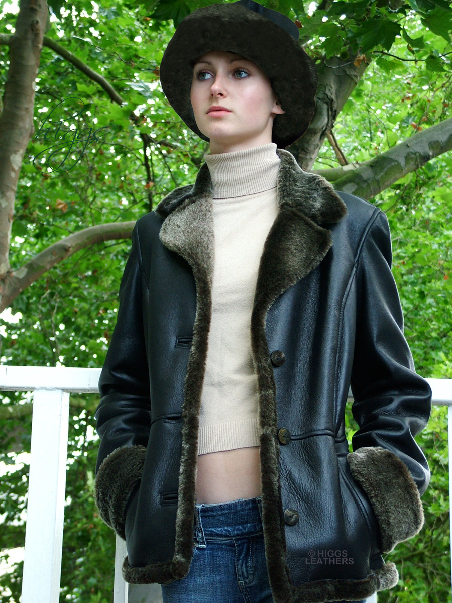 Higgs Leathers {HALF PRICE SAVE £350!}  Annie (womens Merino Lambskin Jackets) TWO ONLY - SAVE £350!