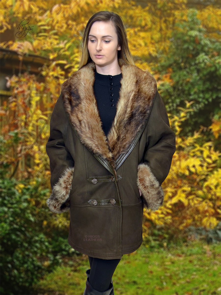 Higgs Leathers {HALF PRICE - SAVE £500!}  Arabello (ladies Toscana Shearling coat) ONE ONLY - SIZE 40' bust - SAVE £500!