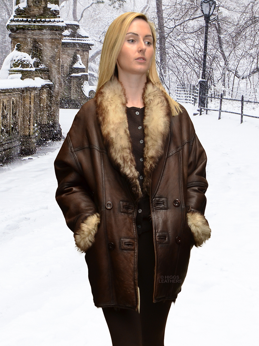 Higgs Leathers {HALF PRICE - SAVE £500!}  Arabello (ladies Toscana Shearling coat) ONE ONLY - SIZE 8 - SAVE £500!