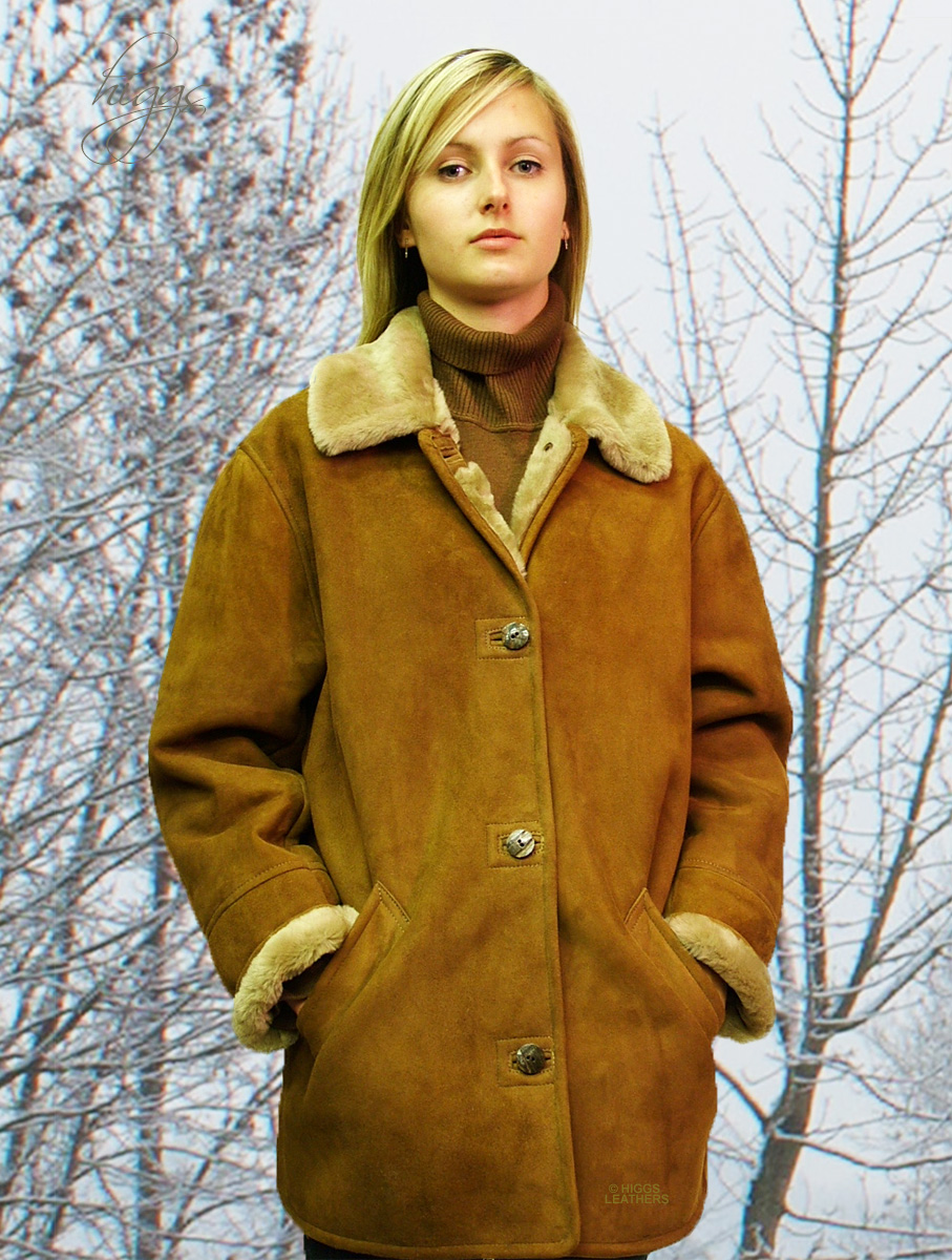 Higgs Leathers Boxy (ladies Merino Shearling jackets) Casual classic!