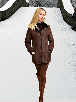 Higgs Leathers LAST ONE SAVE £150!  Cindy (ladies Shearling stroller jacket)