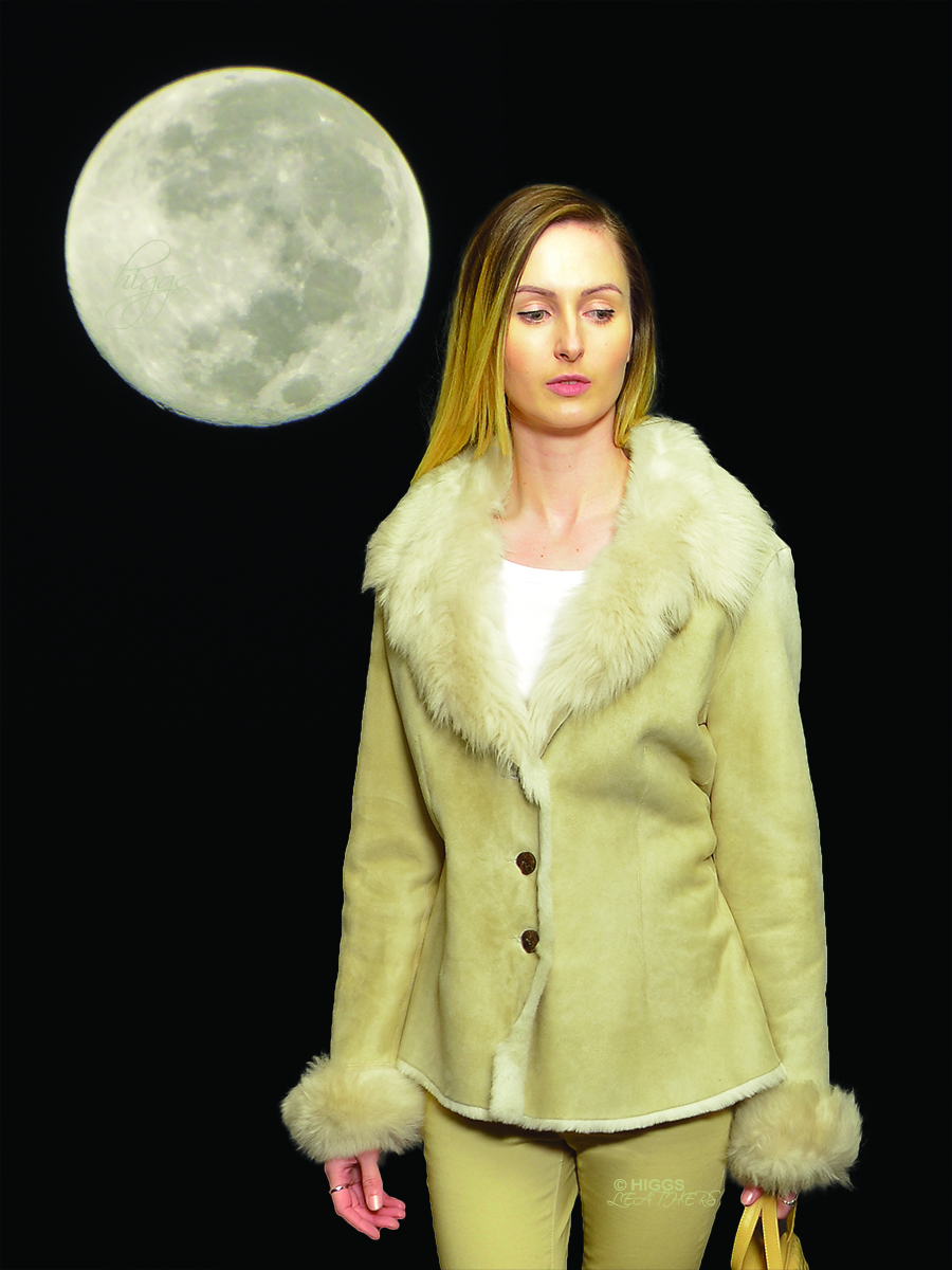 Higgs Leathers {HALF PRICE SAVE £350!}  Connie (Merino and Toscana shearling jacket)