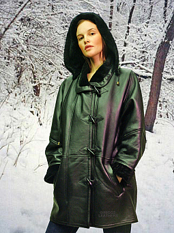 Higgs Leathers NEW STOCK!  Debbie (ladies Hooded Merino Lambskin duffle coats)