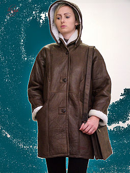 Higgs Leathers LAST FEW!  Dulcia (ladies hooded Sheepskin 3/4 coats)