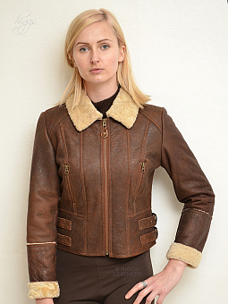 Higgs Leathers {ONE ONLY SAVE £100!}  Elsie (ladies Shearling Flying jacket) ONE ONLY - SIZE 38' BUST