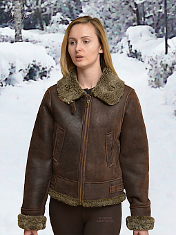 Higgs Leathers HALF PRICE!  Fleeta (ladies Sheepskin flying jacket)