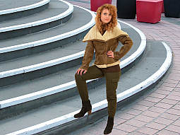Higgs Leathers ALL SOLD!  Laska (ladies Brown Shearling Flying jackets)