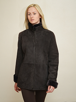 Higgs Leathers ONE ONLY - SAVE £300!  Mellie (ladies Brown Merino Lamb jackets)