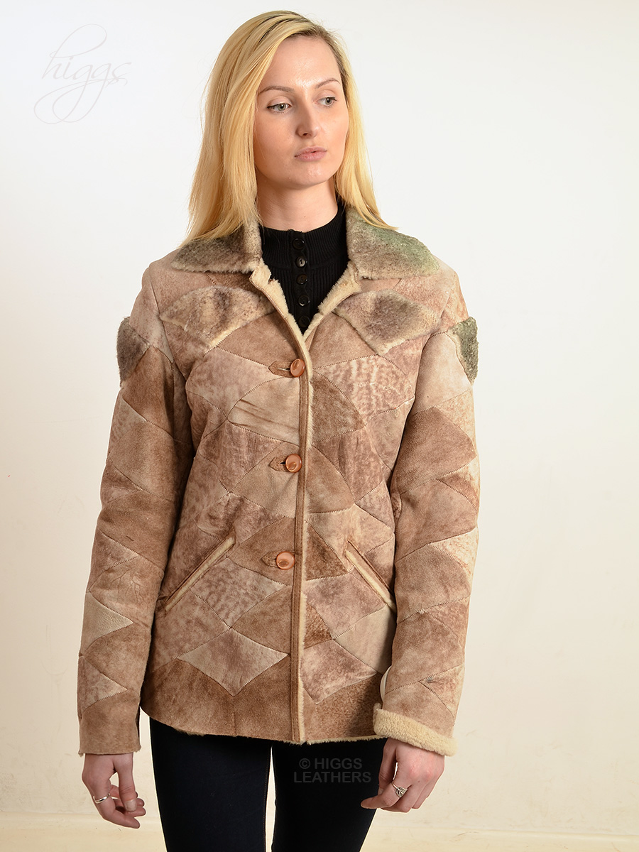 Higgs Leathers {ONE ONLY - SAVE £120!}  Peyton (fitted Sheepskin jacket) ONE ONLY - SIZE 32' BUST