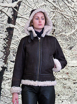 Higgs Leathers {HALF PRICE SAVE £145!}  Pilota (hooded Sheepskin Flying jackets)