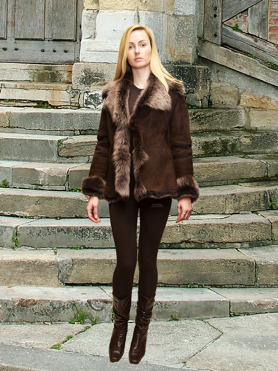 Higgs Leathers {LAST FEW SAVE £150!}  Veronique (ladies Toscana Shearling jackets) FEW ONLY REDUCED TO £495!
