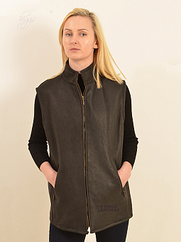 Higgs Leathers ONE ONLY SAVE £100!  Bedford (nappa Sheepskin body warmer)
